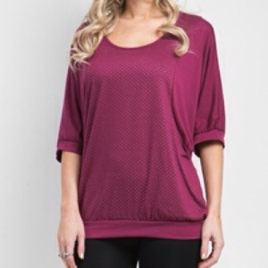 Burgundy_Gold_Dotted_Plus_Size_Tunic